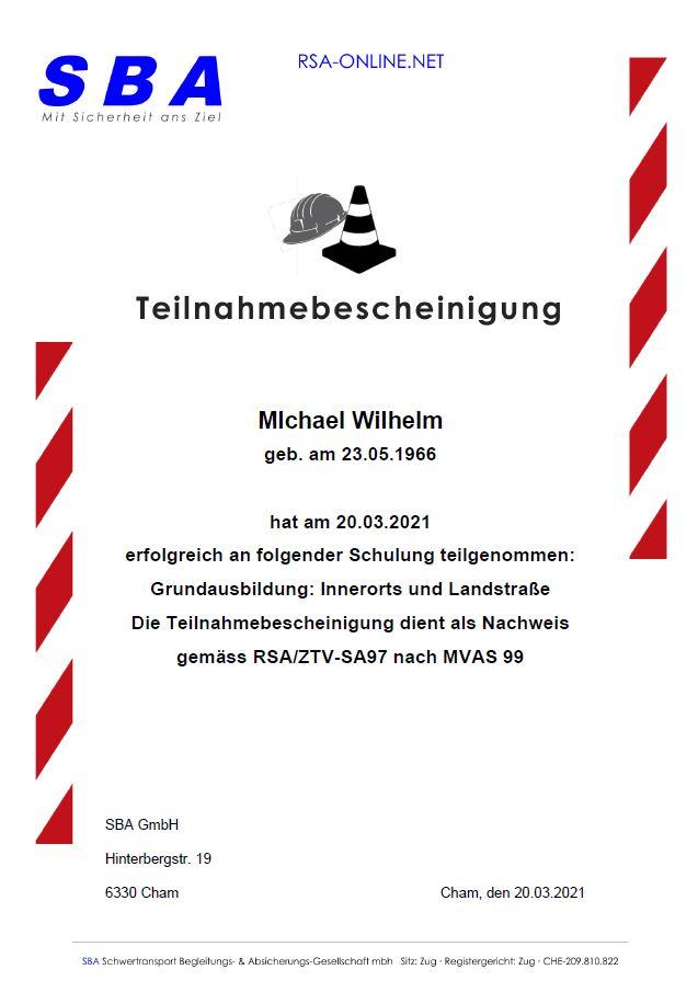 RSA Zertifikat Wilhelm